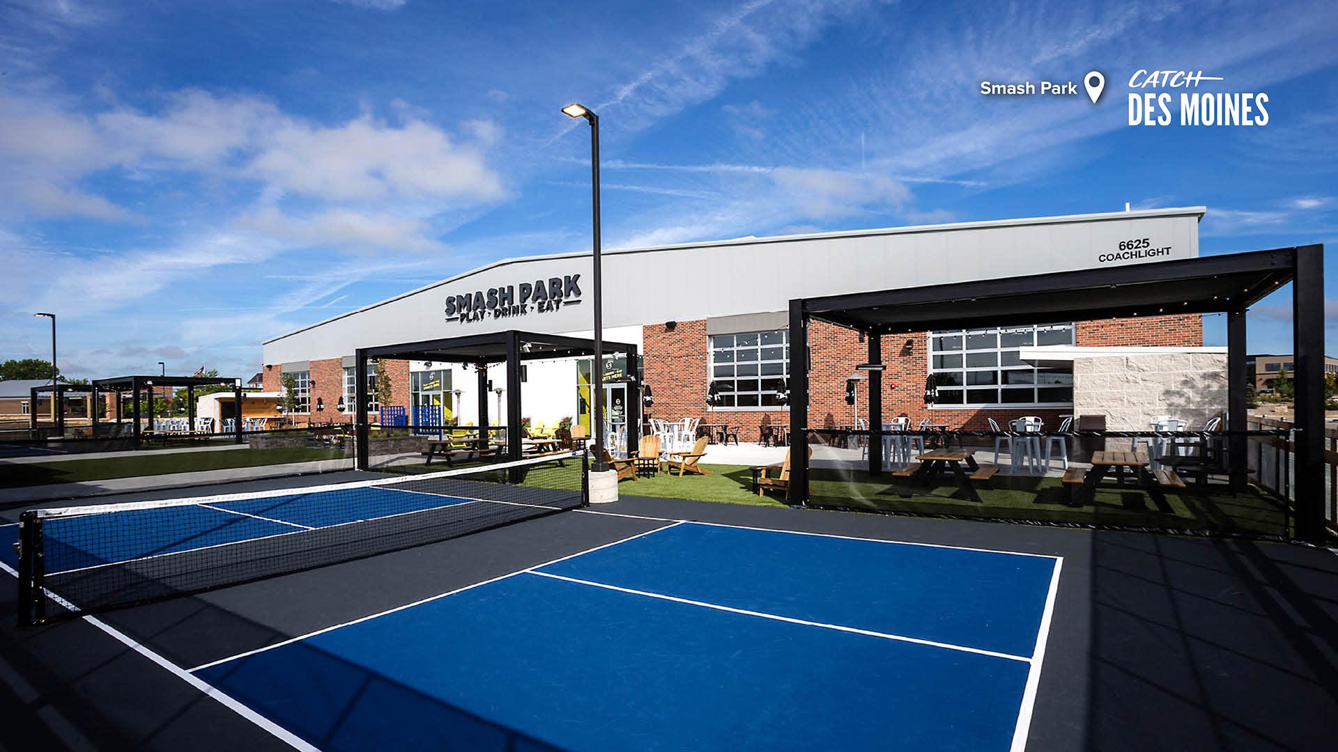 Smash Park Tennis Courts Zoom Background