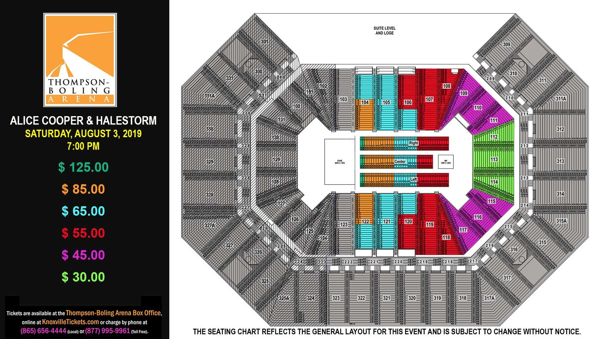 Alice Cooper Seat Map