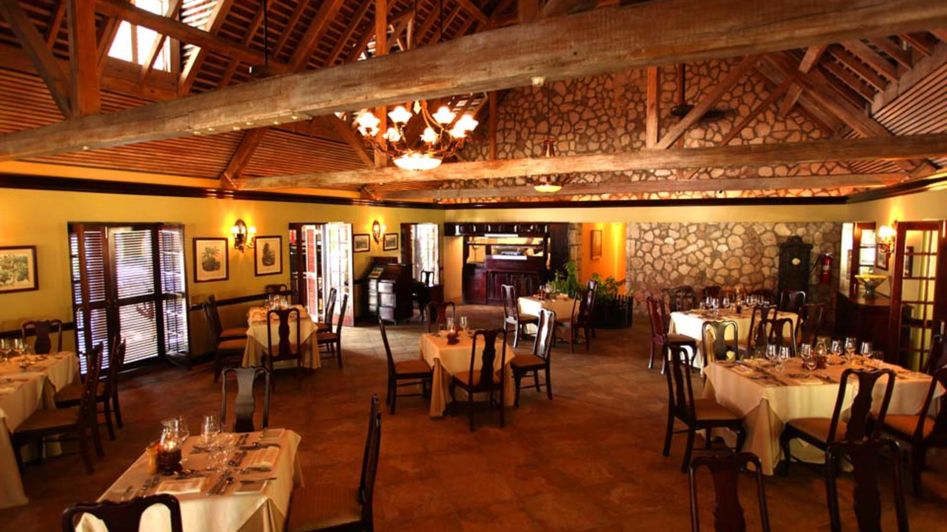 Half-Moon,-A-RockResort,-Rose-Hall,-Jamaica---Sugar-House-Dining-Room