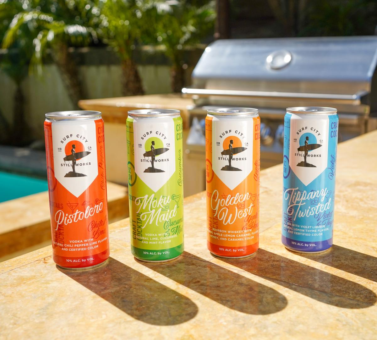 Surf City Still Works Canned Cocktails