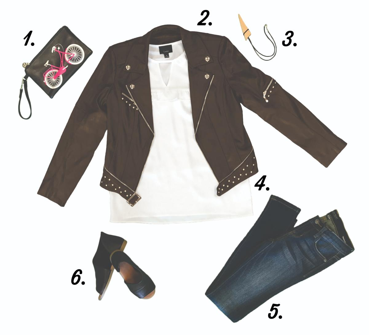 The perfect outfit for a girl's night out in downtown Stevens Point with items from local shops!