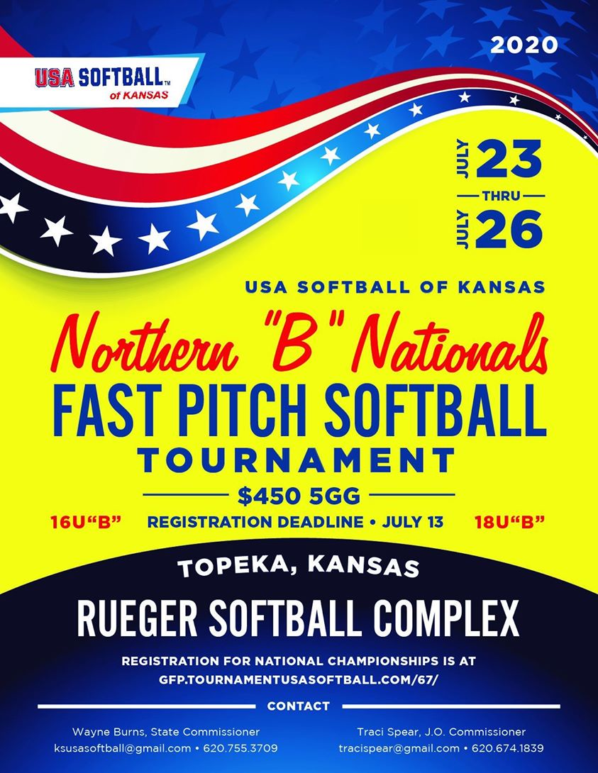 "USA Softball Northern ""B"" Nationals Fast Pitch Tournament Flyer"