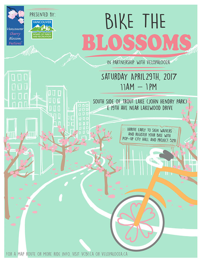 Vancouver Cherry Blosso Festival Poster 2017