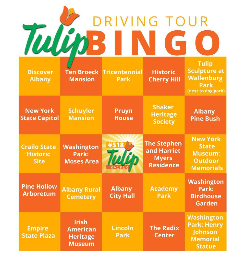 Tulip Driving Tour Bingo