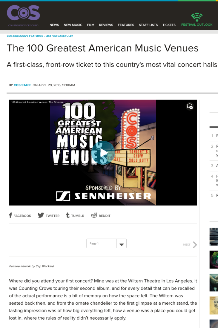 100 Greatest American Music Venues
