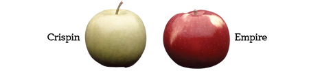 Crispin & Empire Apples