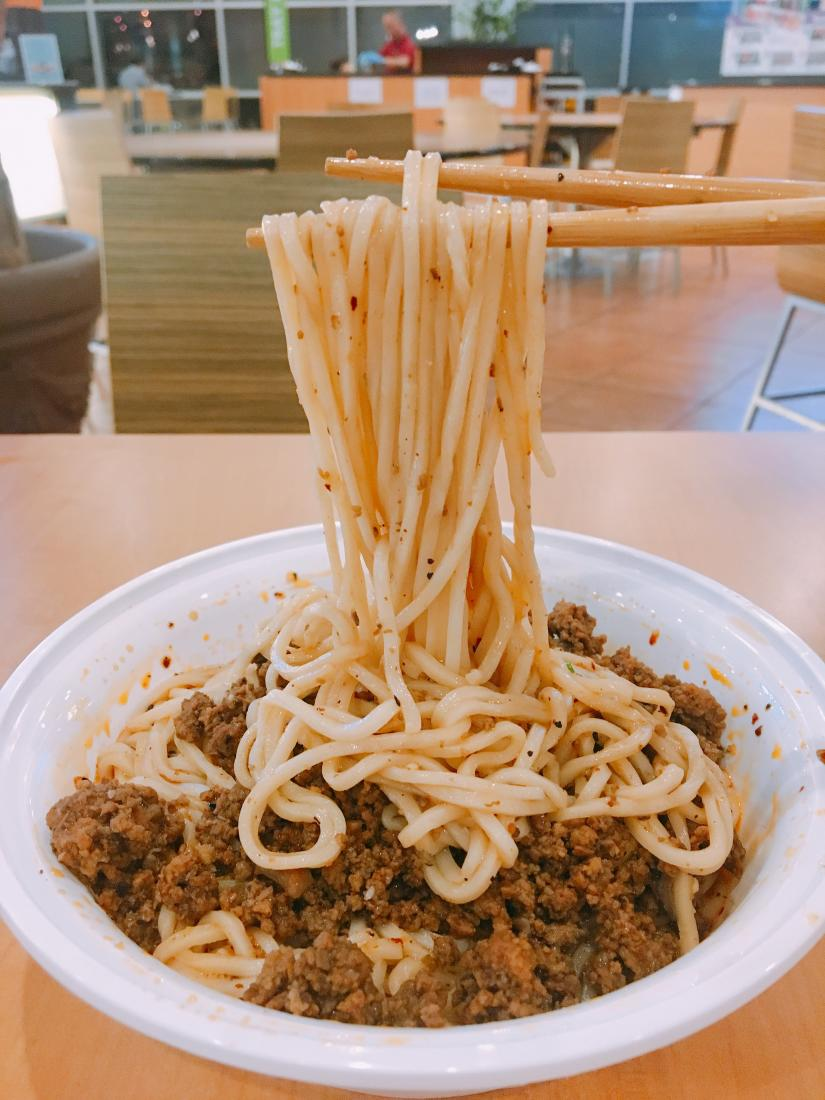 Dan dan noodles from Szechuan House