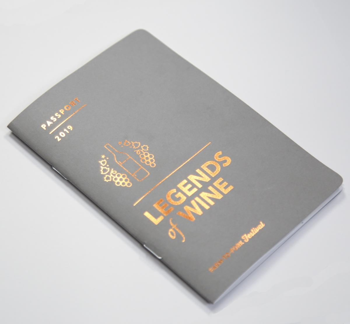 Legends of Wine Passport Cover
