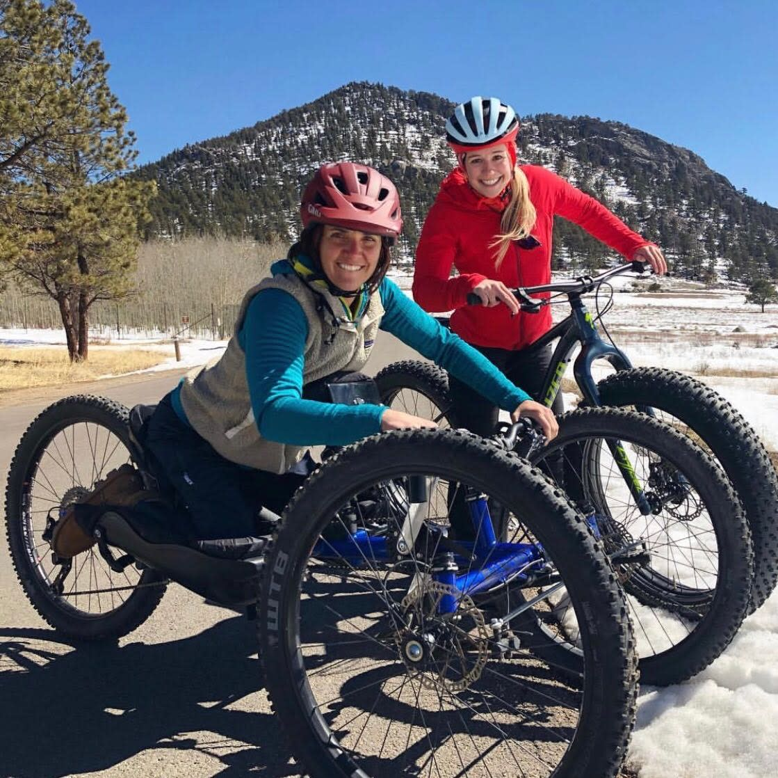 Caroline Gleich and Quinn Brett Fatbiking