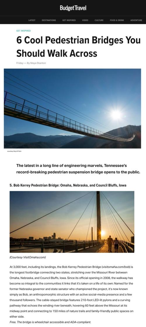 BudgetTravel.com - 6 Cool Pedestrian Bridges You Should Walk Across