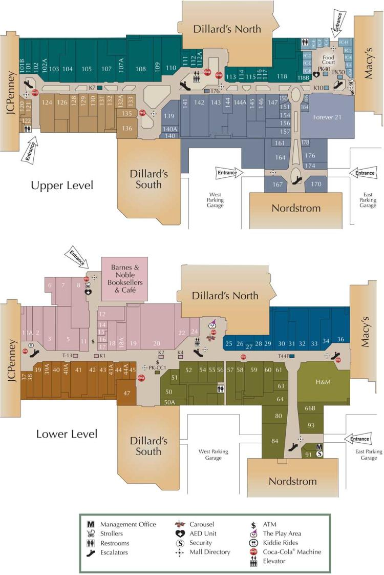Oak Park Mall Map in Overland Park