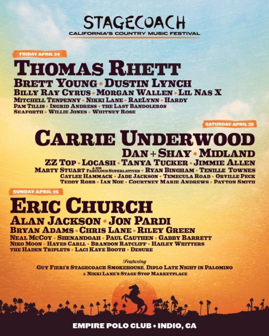 Stagecoach 2020 Line Up