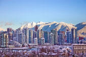 Thumbnail: Snowy Vancouver City Skyline