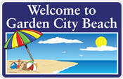 Welcome to Garden City Beach logo