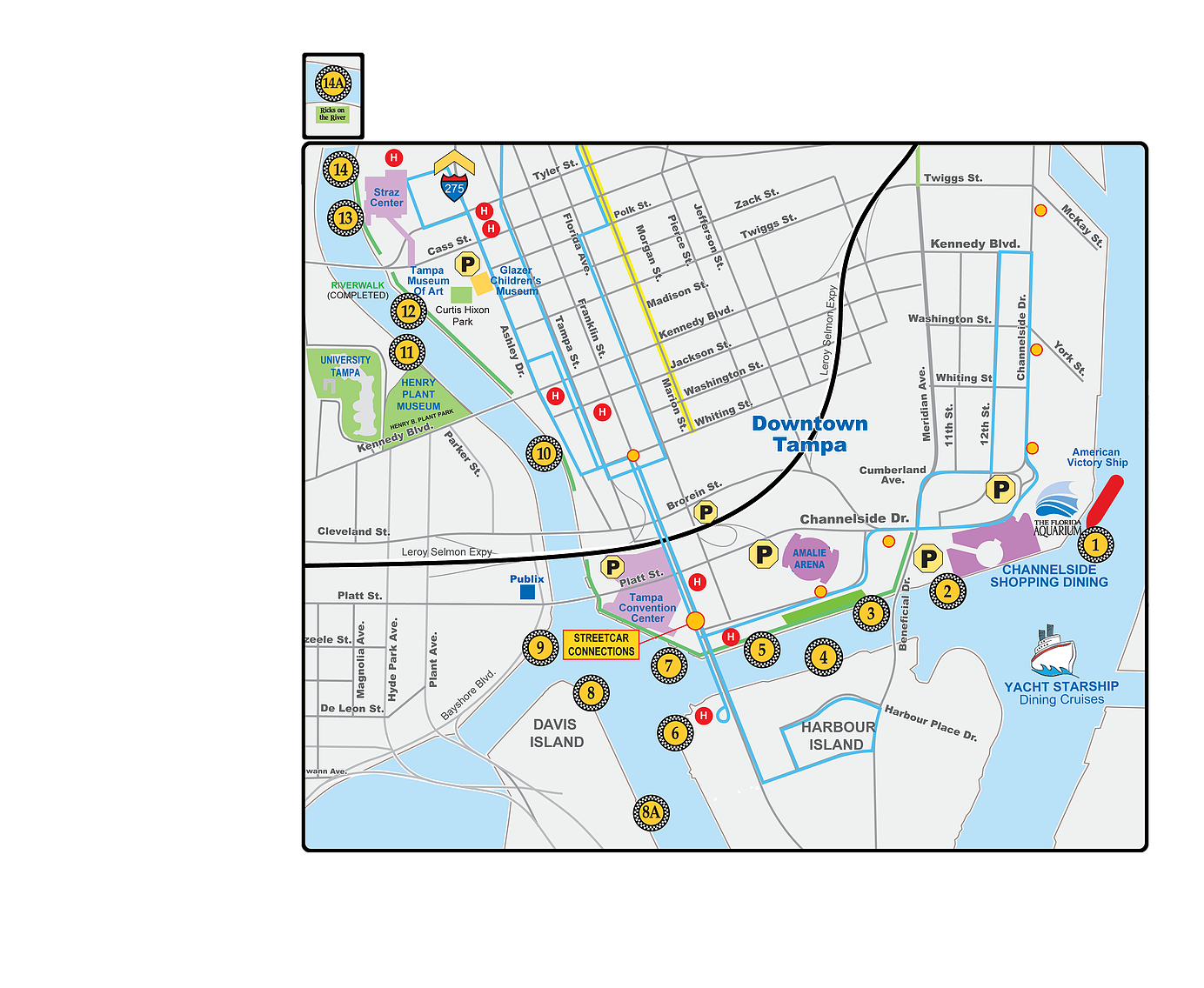 Water Taxi Map