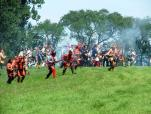 The French and their Indian allies will emerge from the woods near Fort Ontario on June 29 and 30 and recreate the failed 1759 surprise attack on Fort Ontario in Oswego. The failed attack spelled the beginning of the end of French Canada. (Photo by Fort Ontario State Historic Site.)