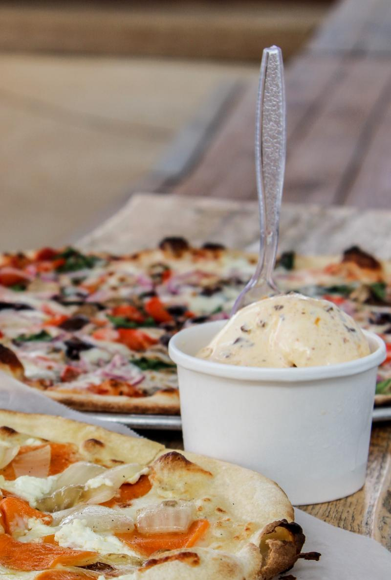Earth and Stone Pizza Ice Cream