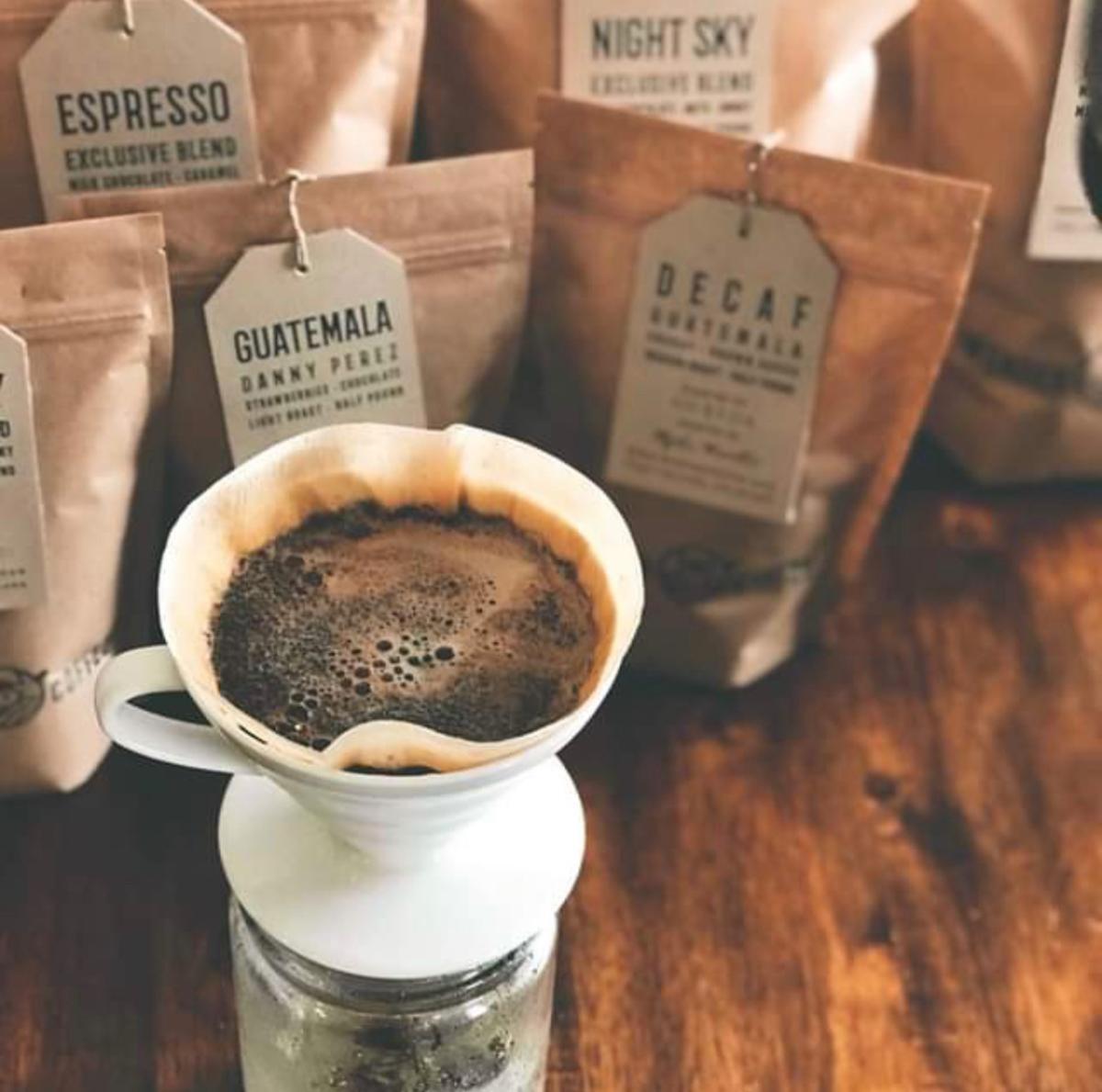 Wander Coffee brewing