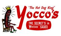 Yoccos The Hot Dog King Logo