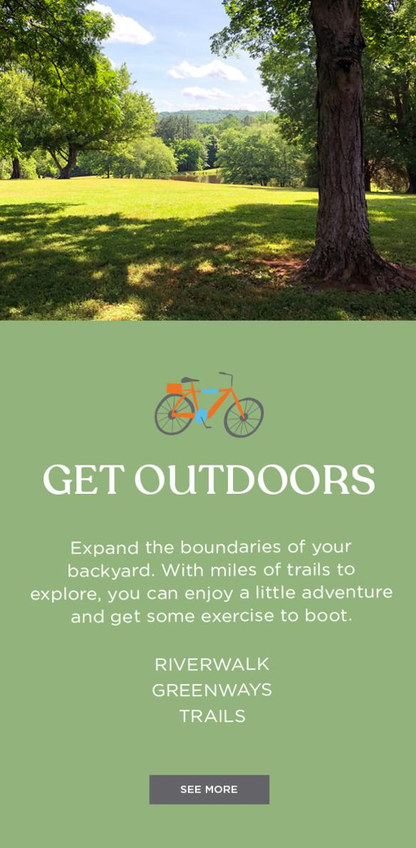 Get Out Doors Image Block for Staycation Landing Page