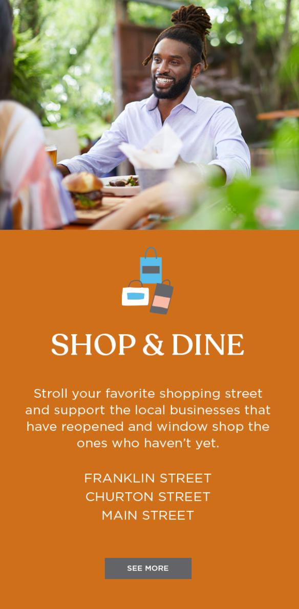 Shop & Dine image block for staycation landing page