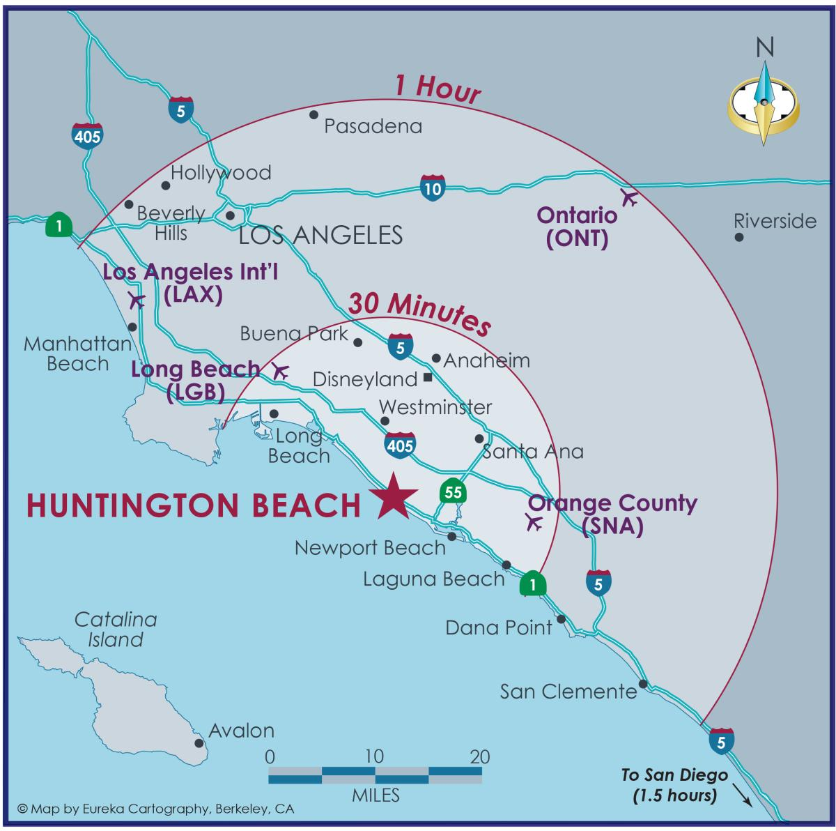 Huntington Beach Regional Map