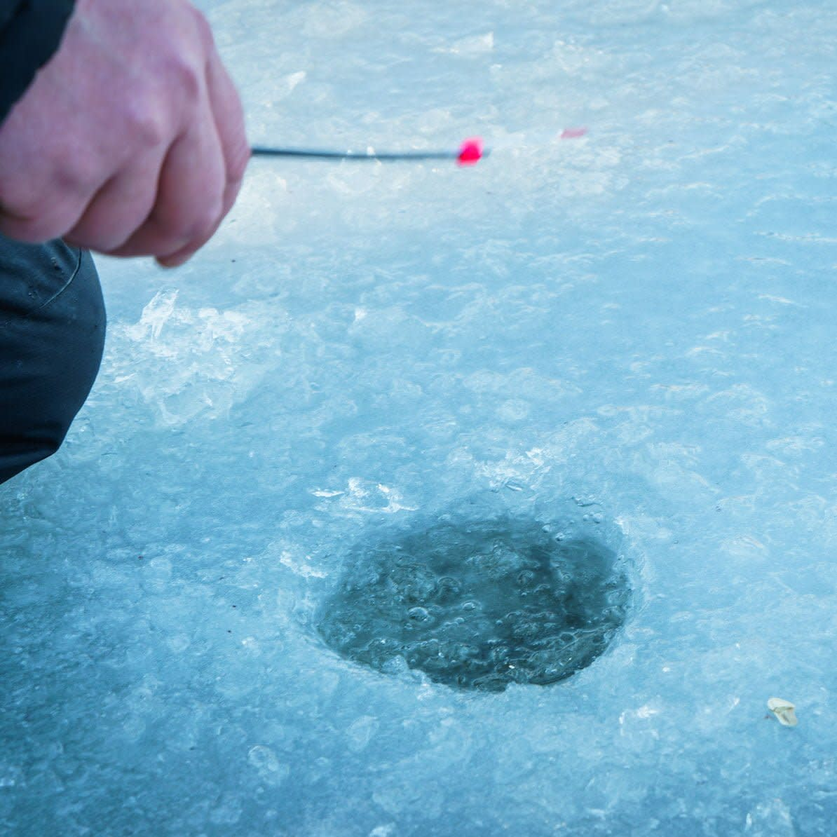 FortWhyte ice fishing