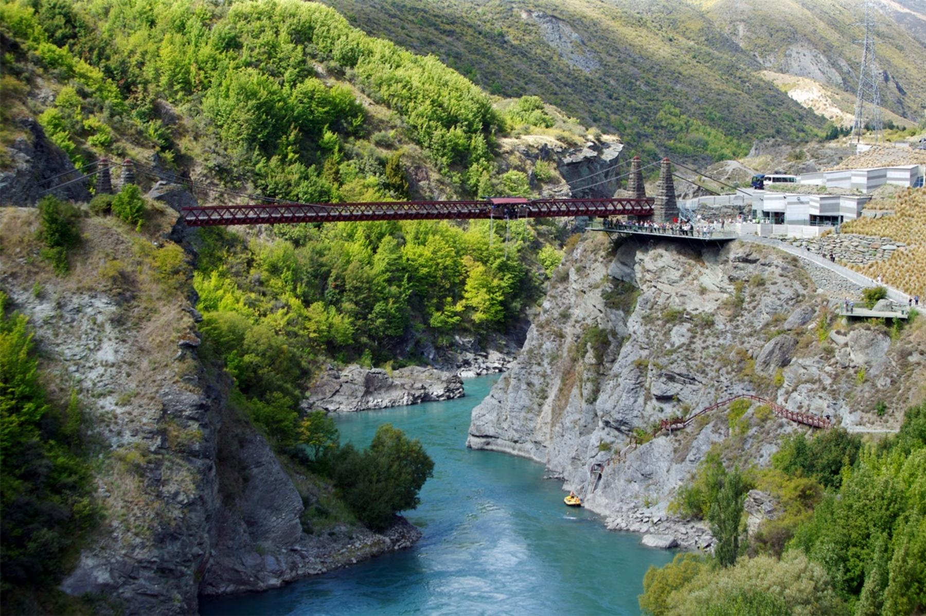 Panoramic photo of the Kawarau Bridge Bungy Centre