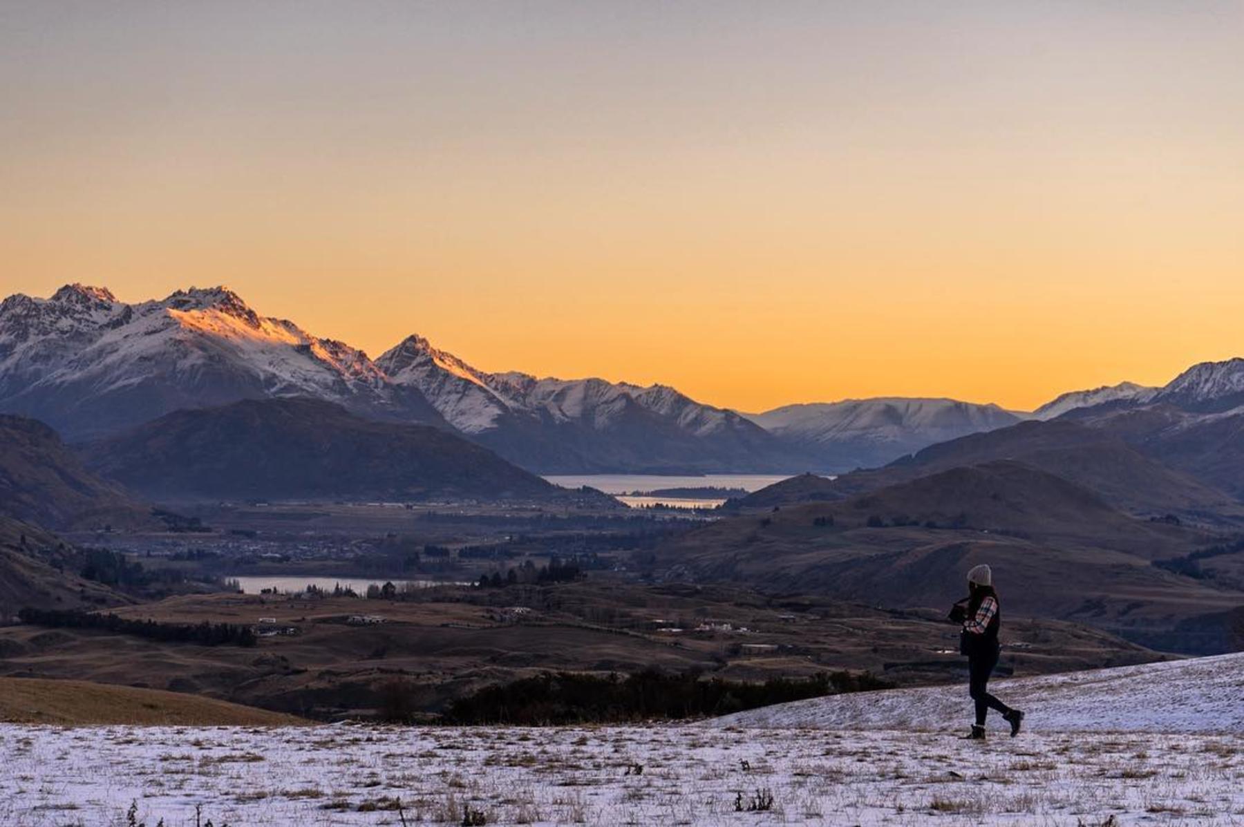 Hiking Tobin's Track in Winter, Arrowtown