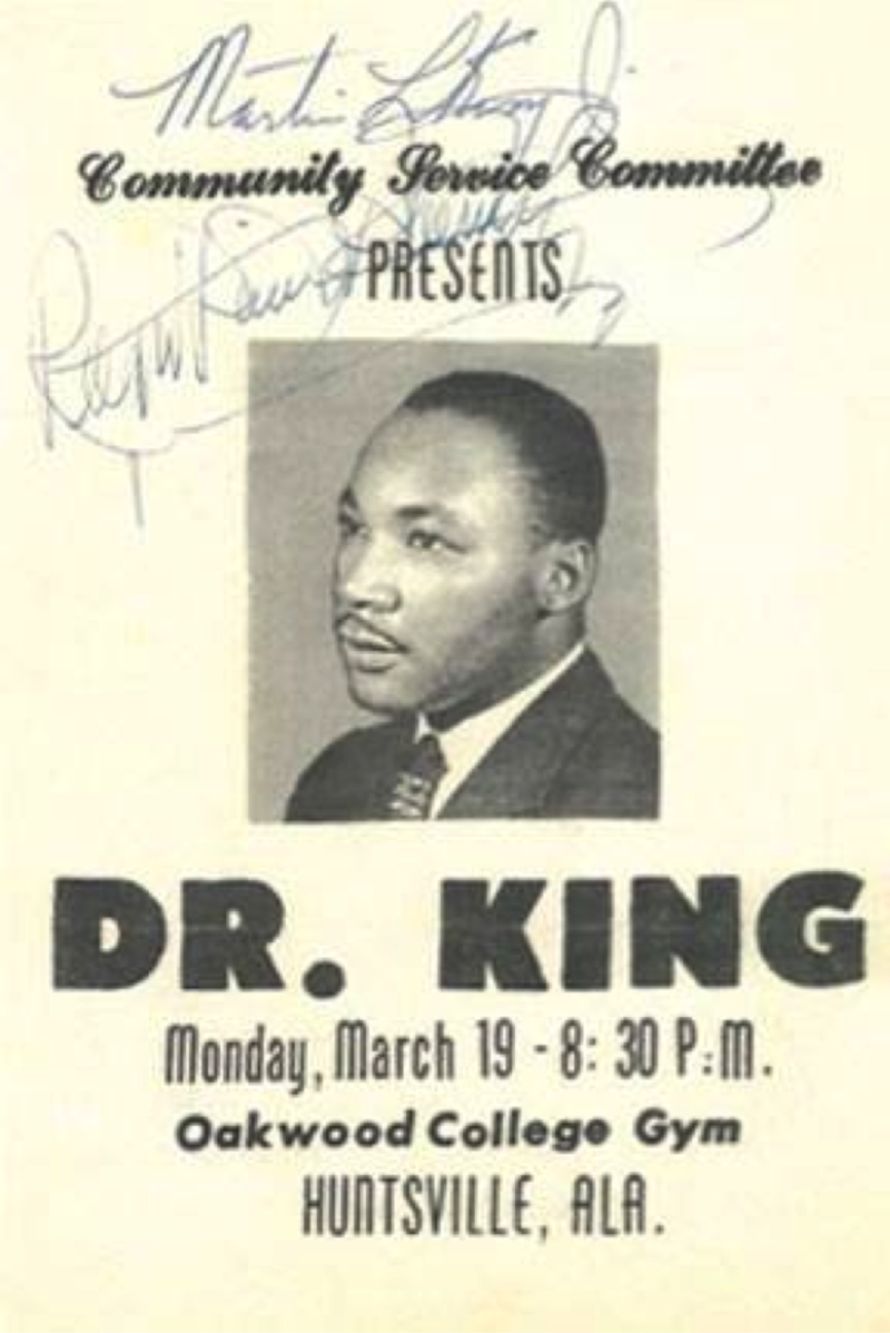 MLK at Oakwood RCCR Tour