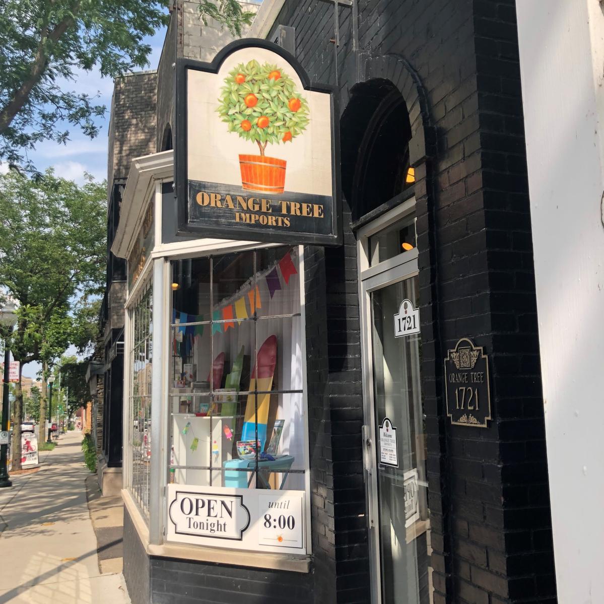 Orange Tree Imports on Monroe Street storefront
