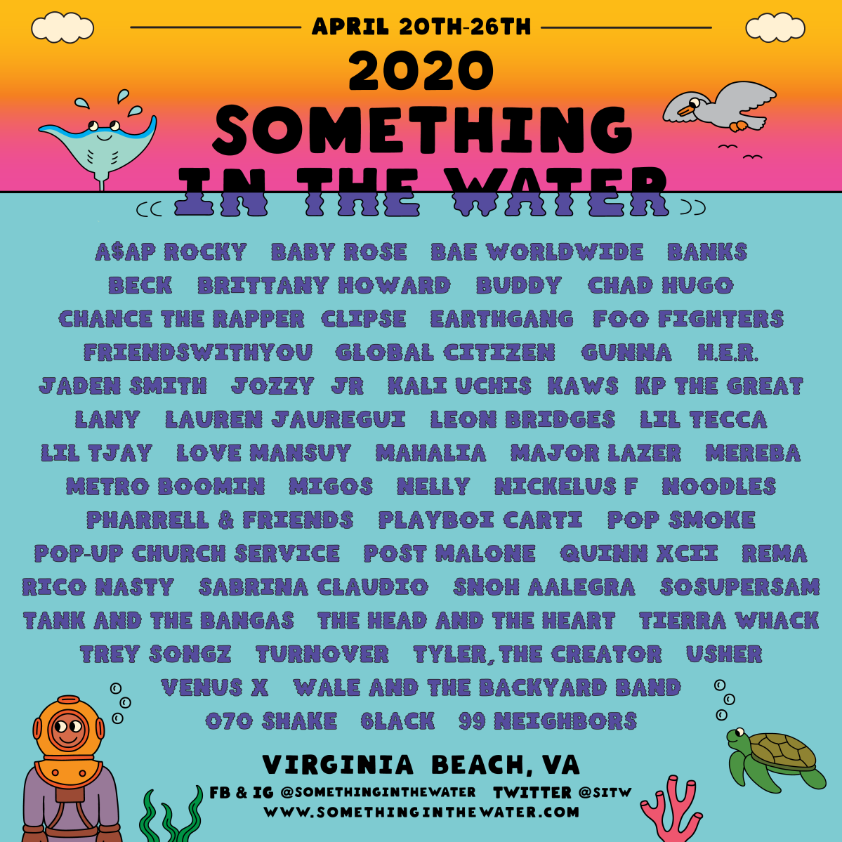 Something in the Water 2020 Lineup List