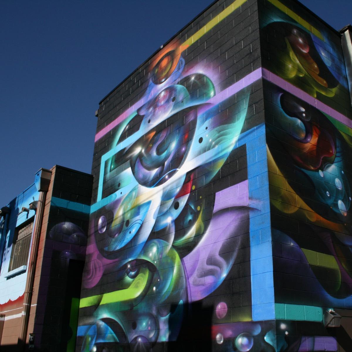 Street art in Denver's River North Art District.