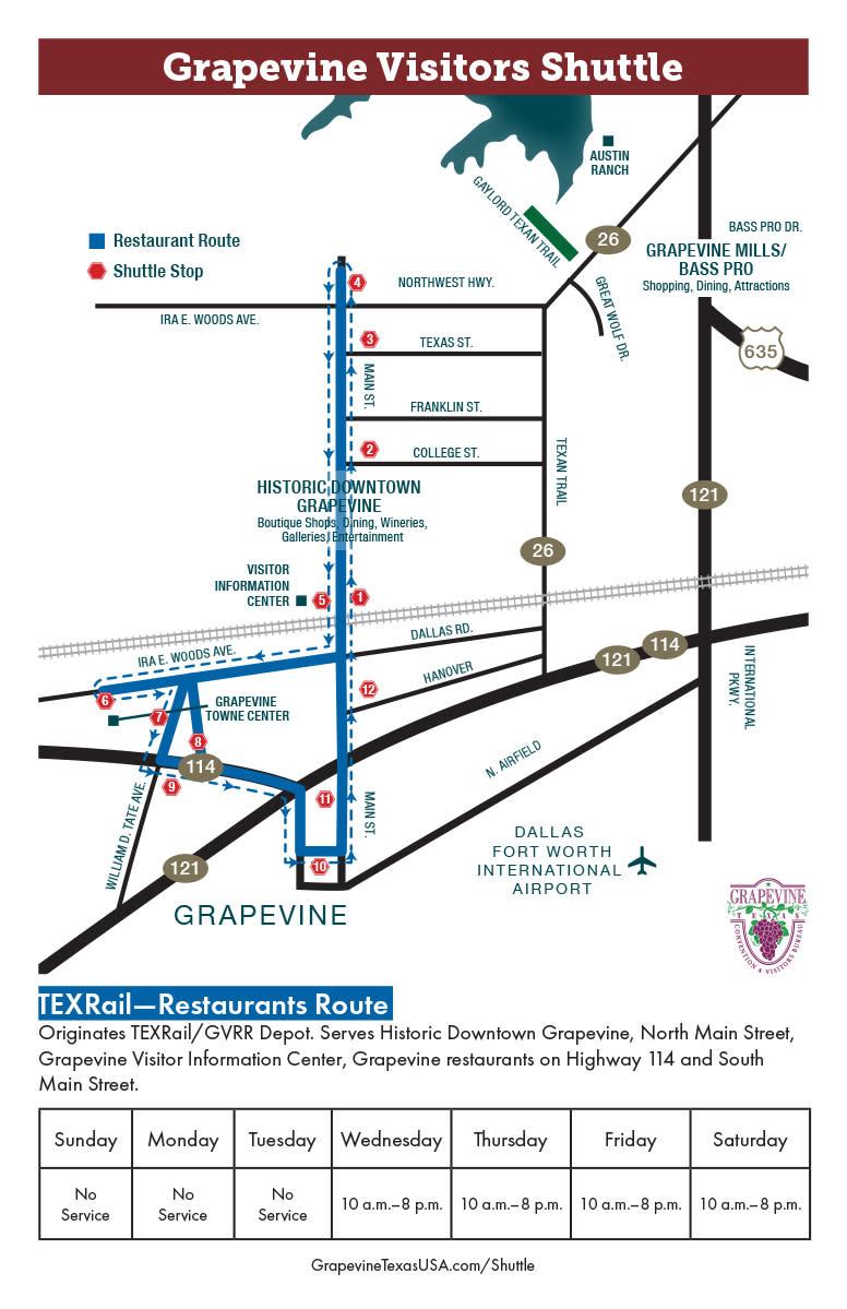 Shuttle Route Maps, Blue