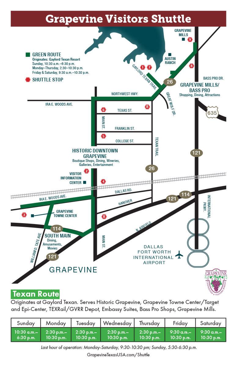 Shuttle Route Maps, Green