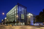 Austin Convention Center exterior at night