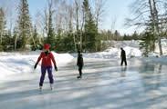 Ice skaters in Minocqua, WI