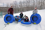 Snow tubing family in Northern Wisconsin