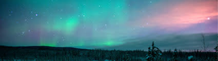 Aurora over North Pole, Alaska