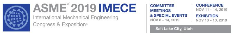 ASME 2019 IMECE logo banner