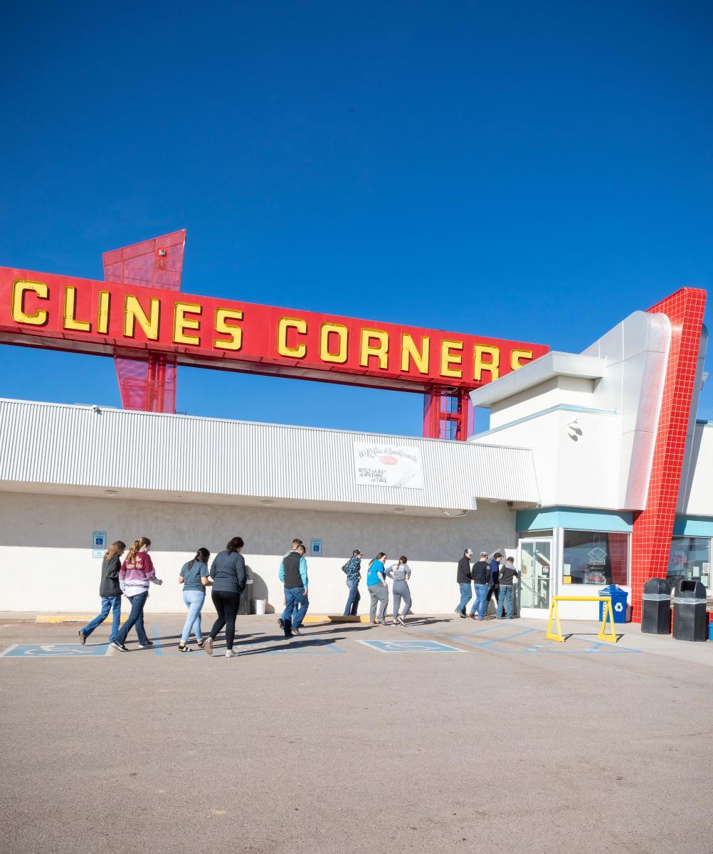 Exterior of Clines Corner