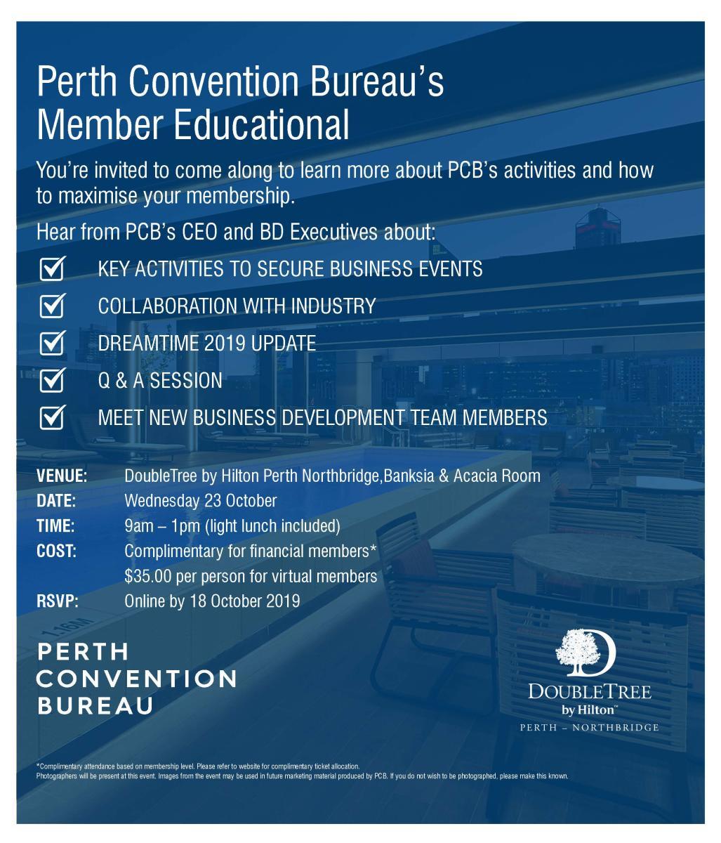 PCB Member Educational Invitation