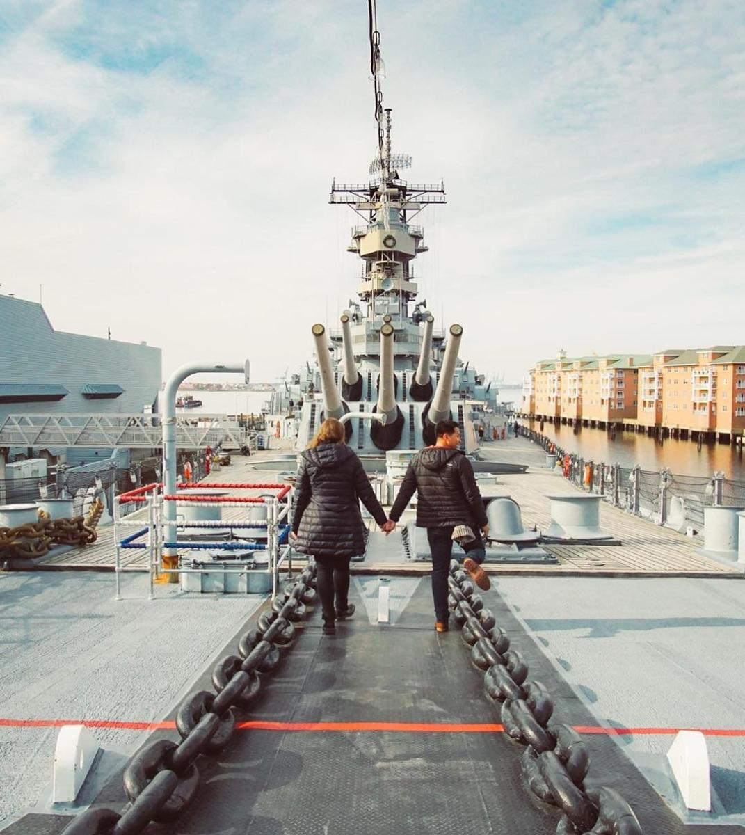 battleship wisconsin - insta blog post