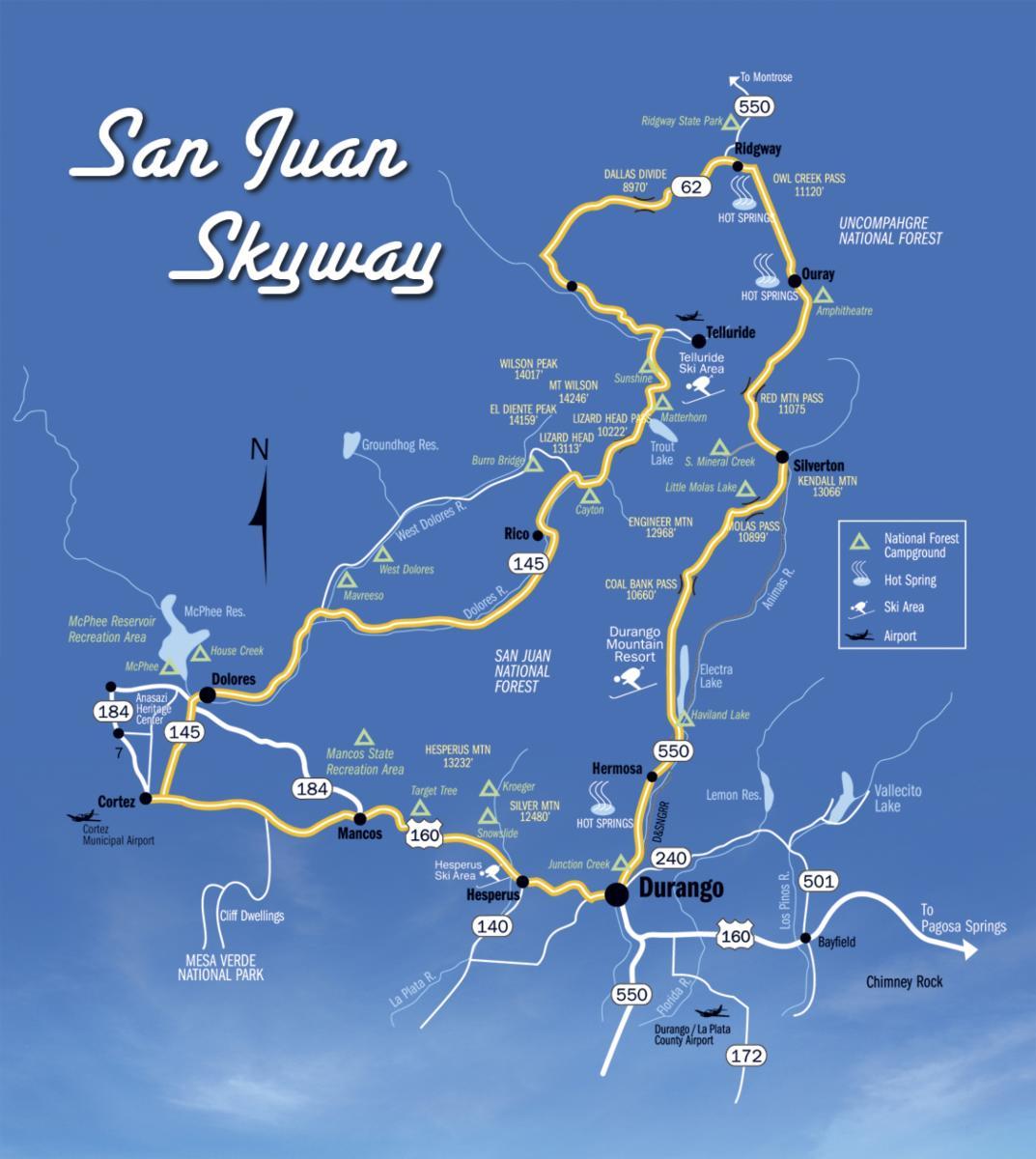 San Juan Skyway Map