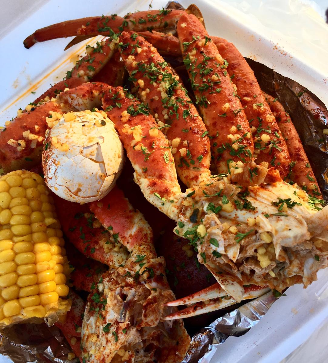 A full plate is served at Crustaceans Boil House in Beaumont.