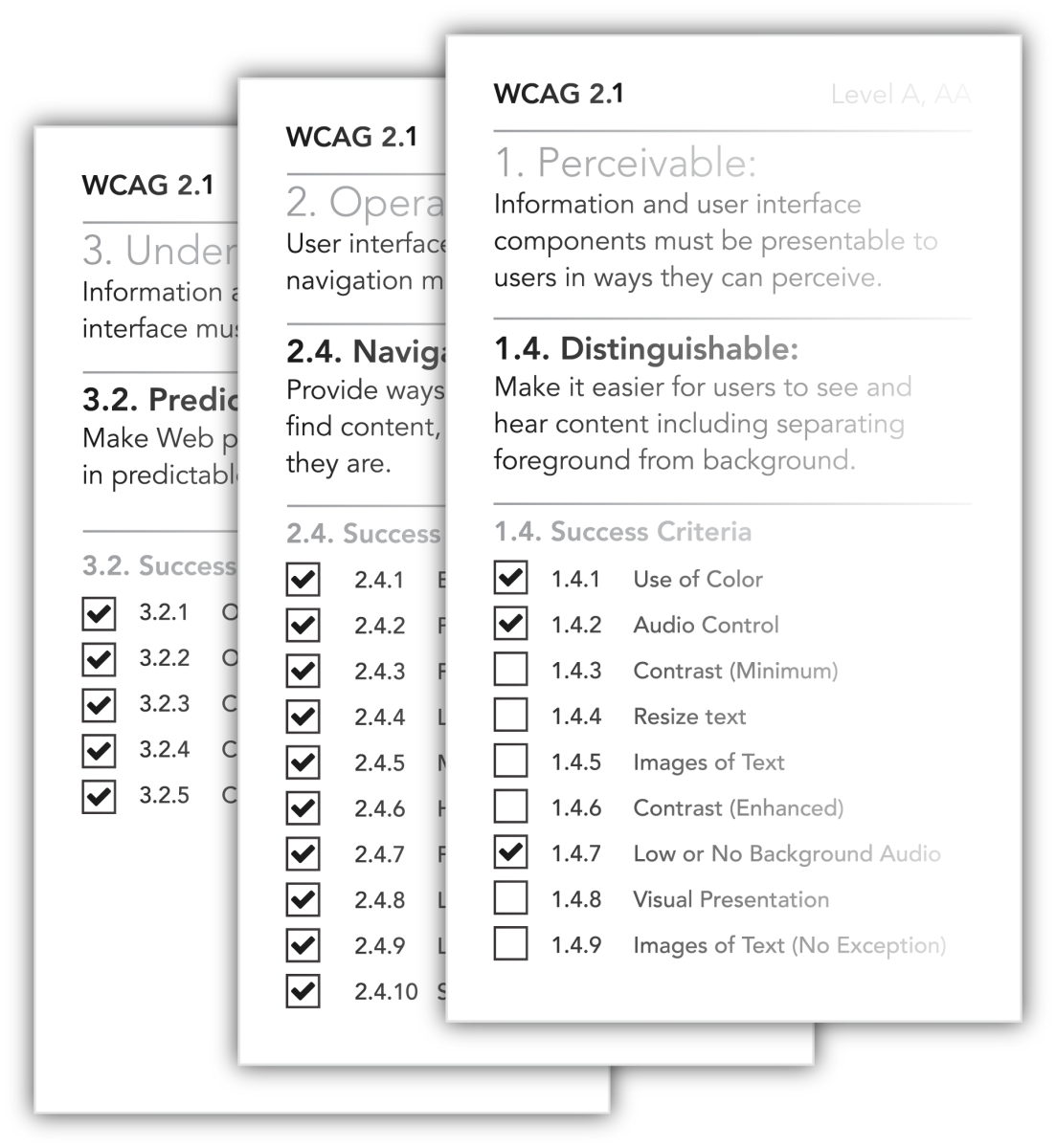 WCAG Guidelines 2.1