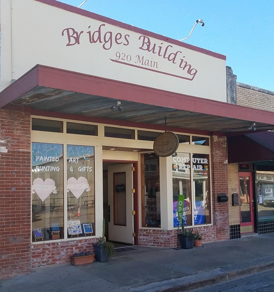 The Bridges Emporium Building Exterior in Bastrop