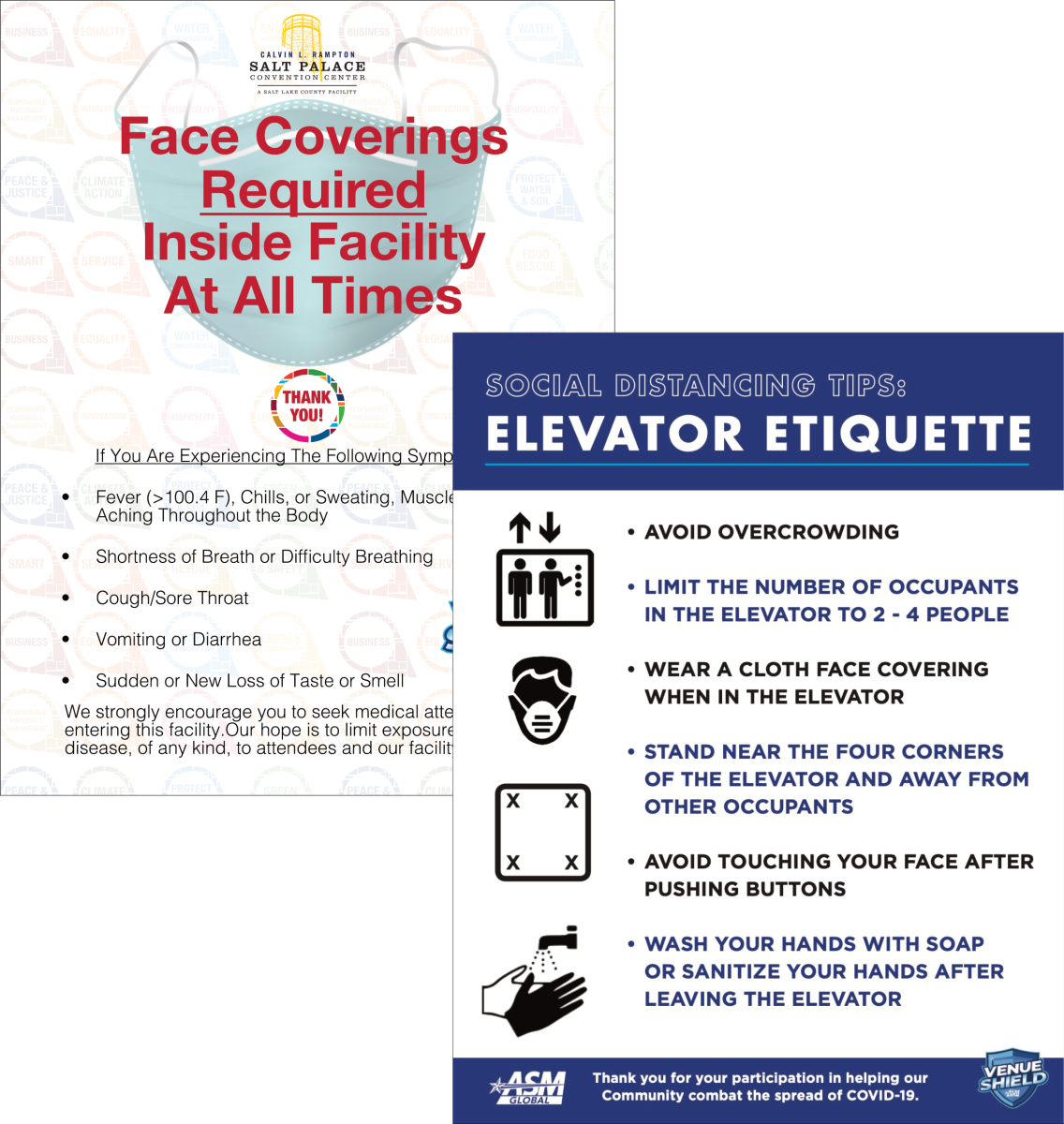 Elevator/Face Coverings