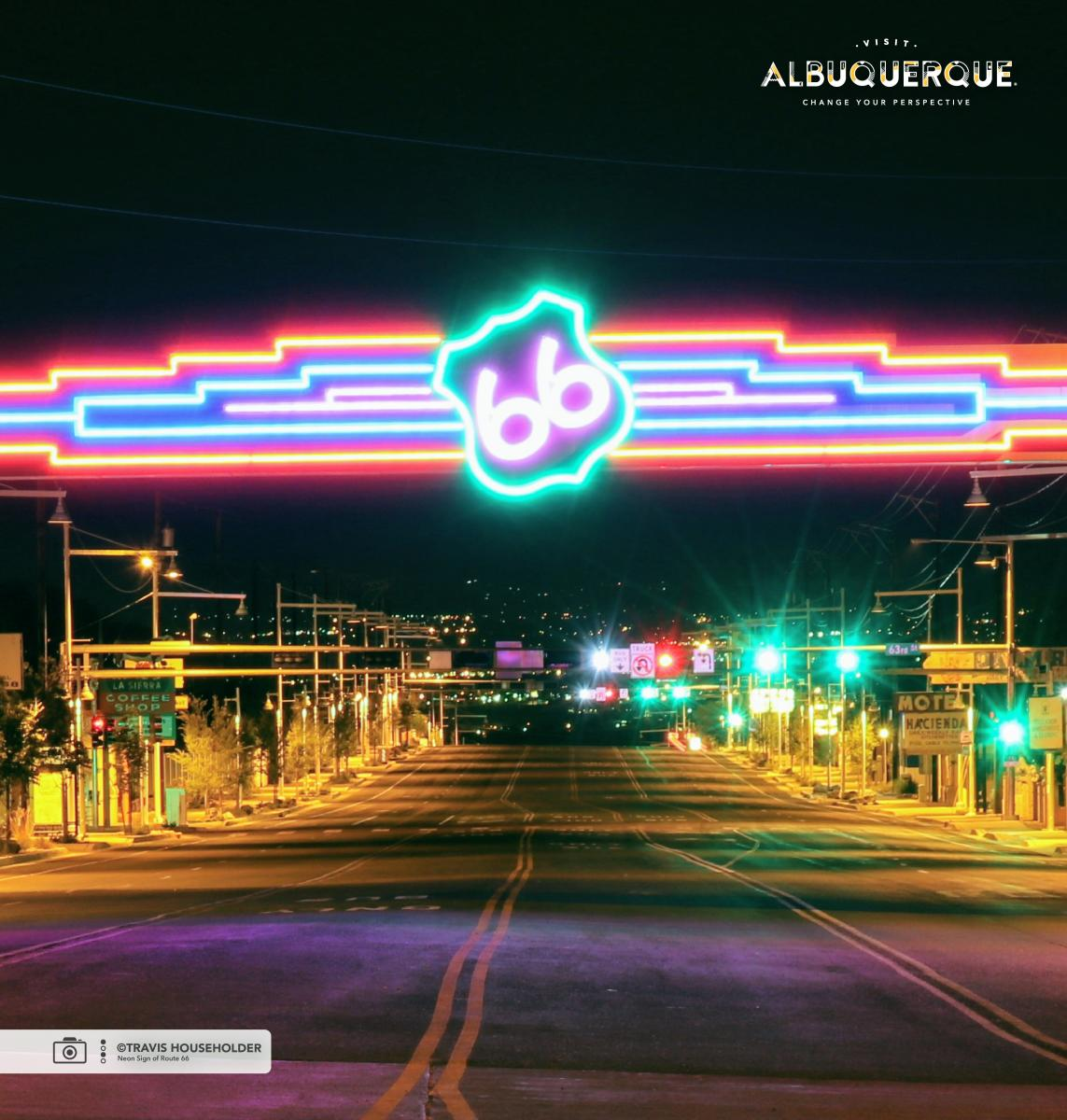 Neon Sign of Route 66