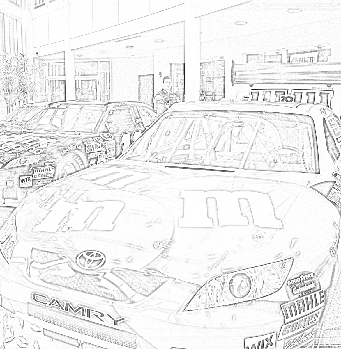Joe Gibbs Racing Coloring Page